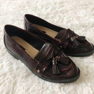 Zara Trafaluc Tasseled Leather Loafers
